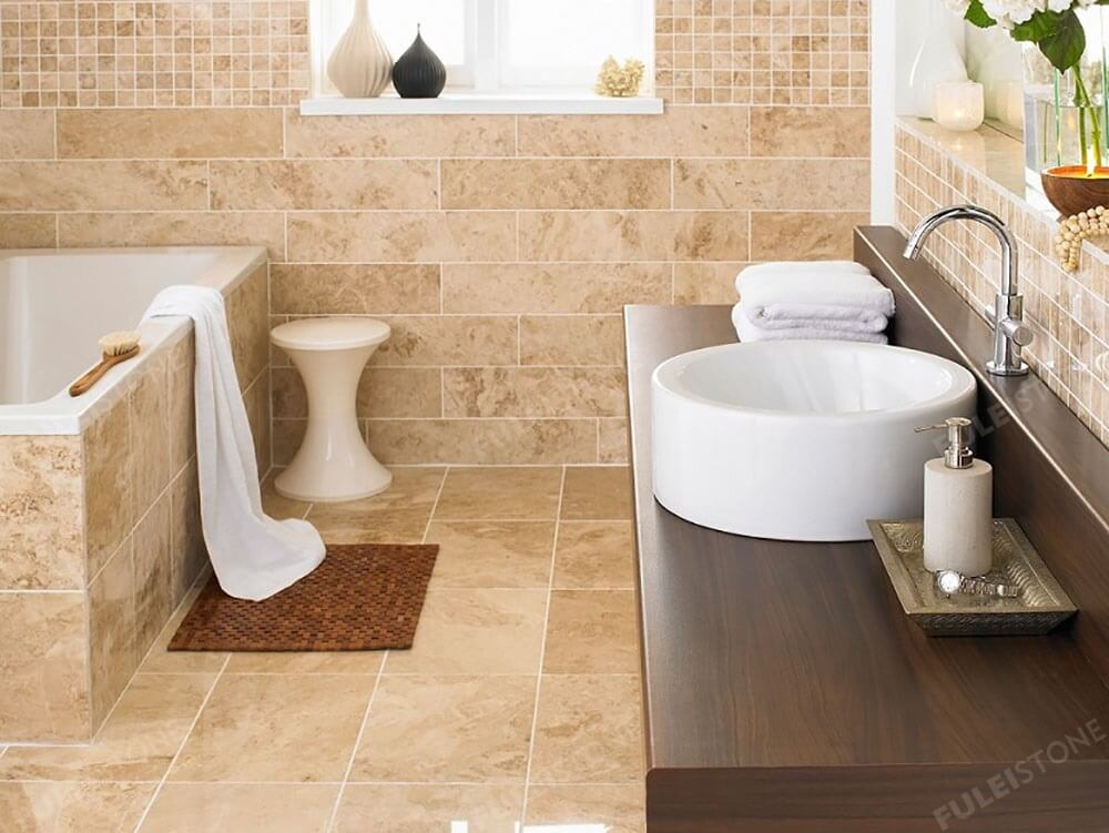 Crema Cappuccino Marble Bathroom Decoration