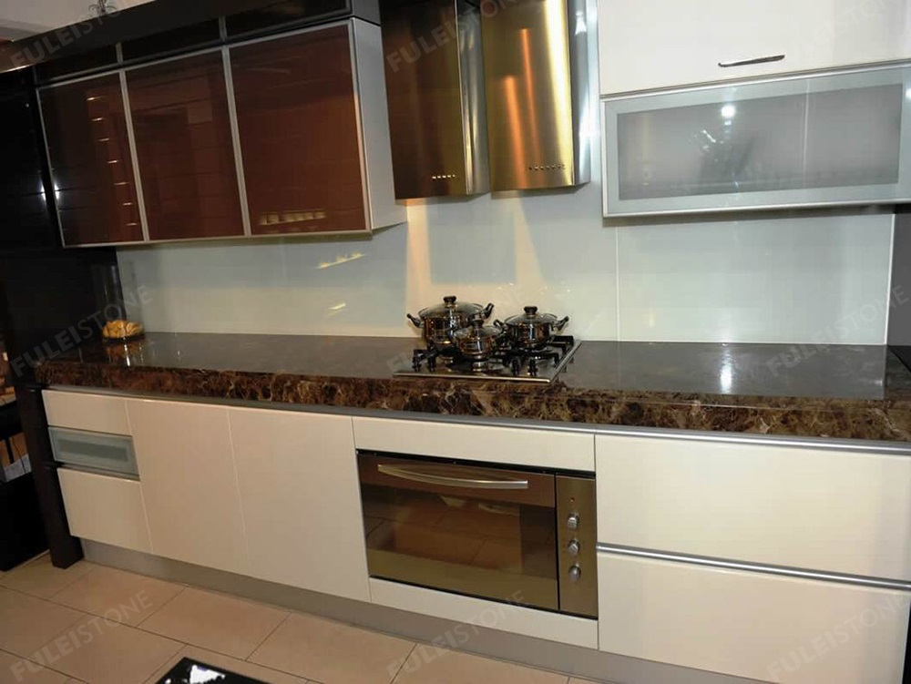 Dark Emperador Marble Kitchen Counter Top