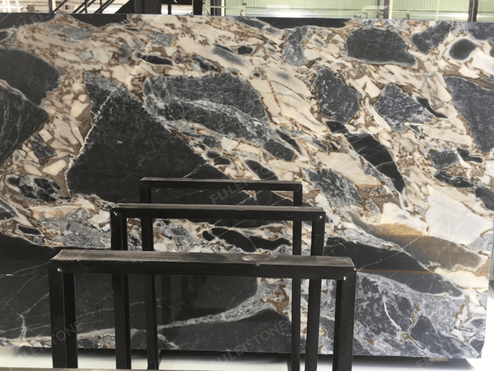 Galaxy Blue Marble Slab For Countertop Fulei Stone
