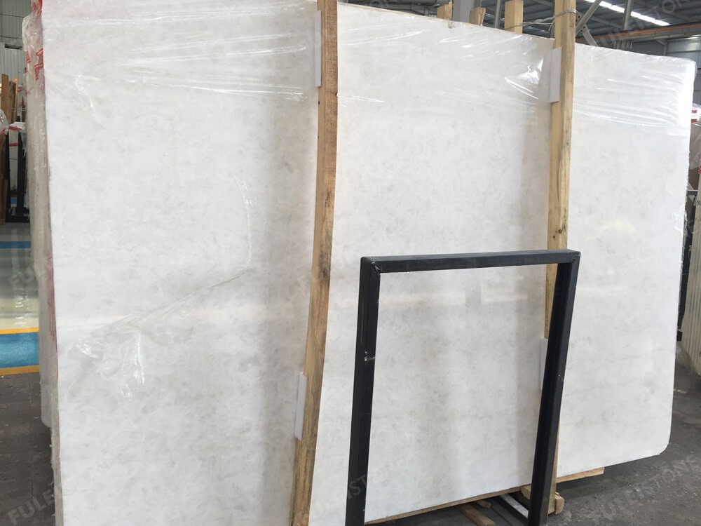 Ice White Onyx Slab Polished
