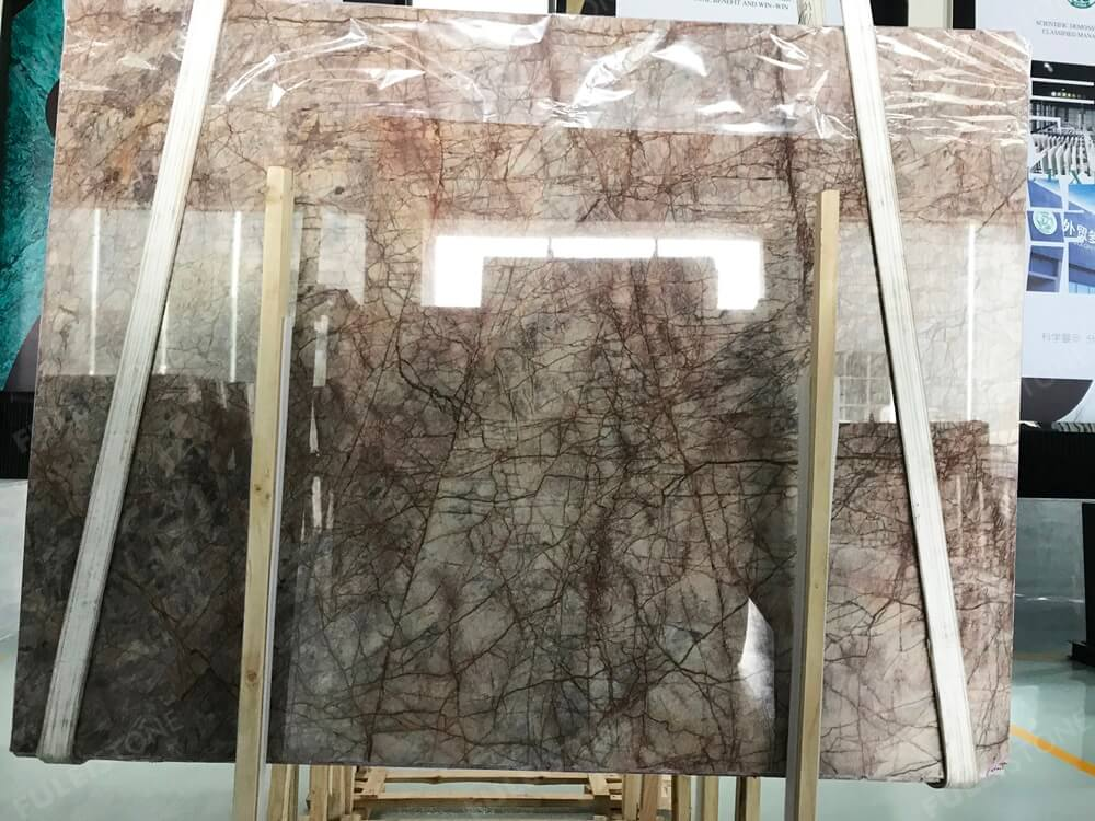 Impressive Amazon Brown Marble Slab High Polished