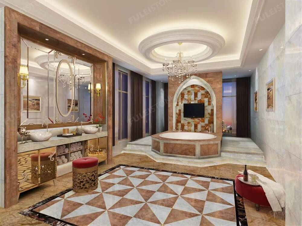 Impressive Amazon Brown Marble Slab for House Design