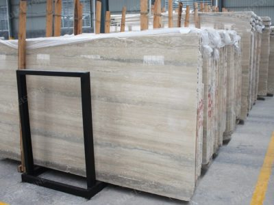 Italian Ocean Blue Travertine Marble Big Slab
