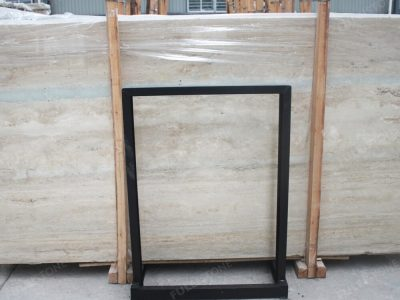 Italian Ocean Blue Travertine Marble Slab