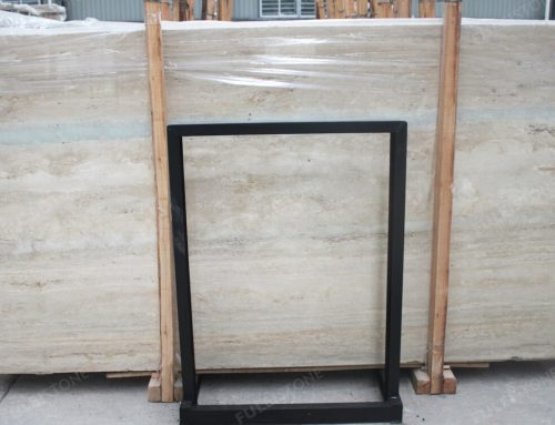 Italian Ocean Blue Travertine Slab
