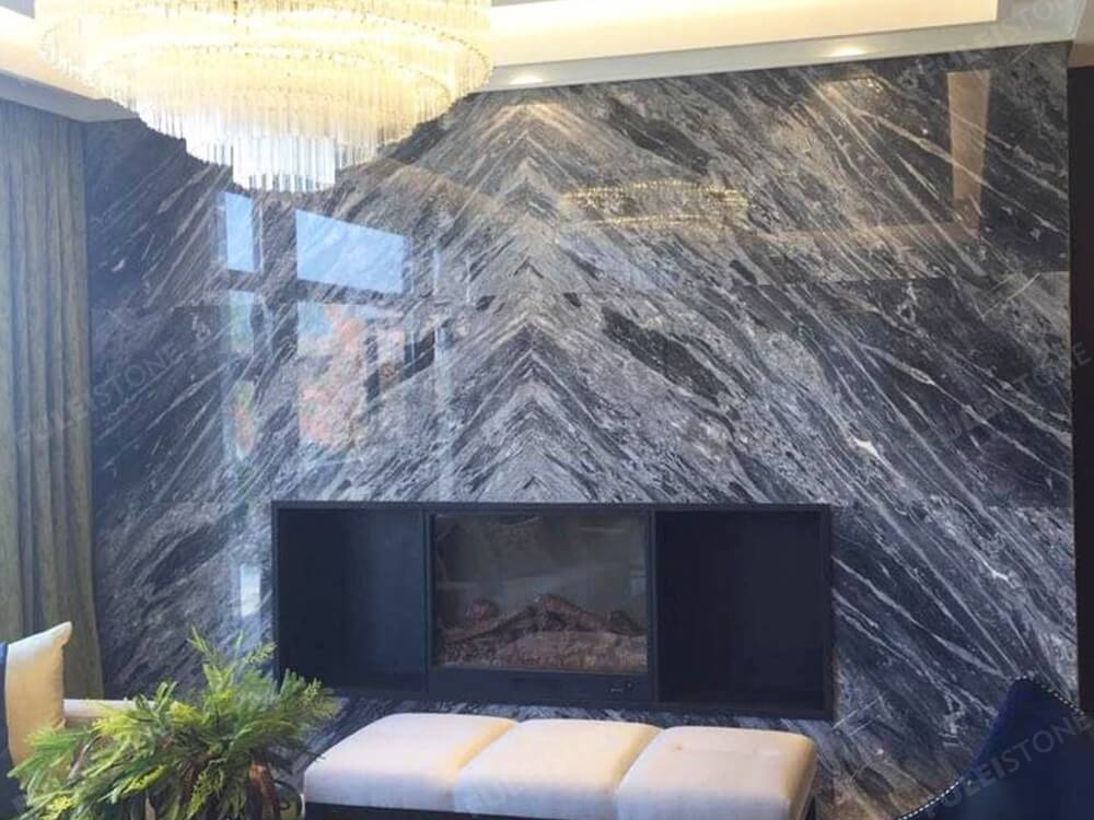 Italian Universal Grey Marble Slab for Background