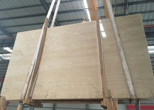 Ivory White Travertine Marble Slab