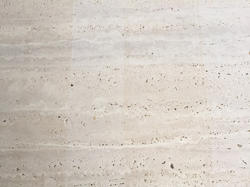 Ivory White Travertine Marble Slab Details
