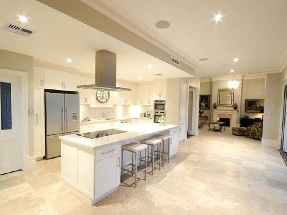 Ivory White Travertine Marble Slab for Kitchen