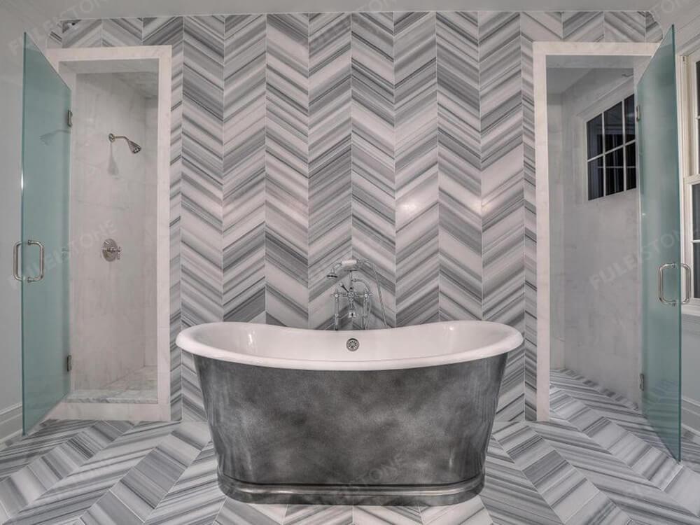 Marmara White Marble Bathroom Decoration