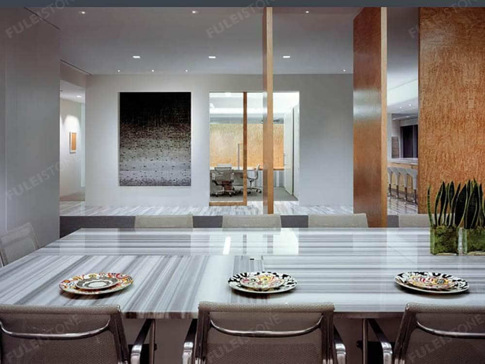 Marmara White Marble Table