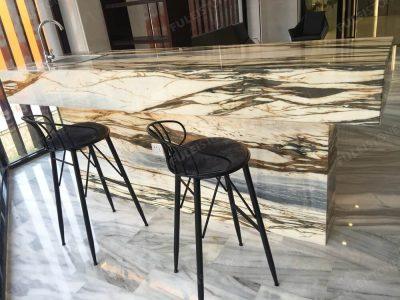 New Giallo Siena Marble Countertop