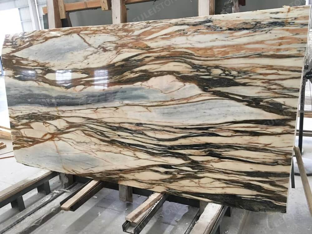 New Giallo Siena Marble Slab