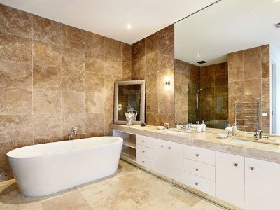 Noce Travertine Slab for Bathroom