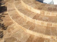 Noce Travertine for Pool Coping
