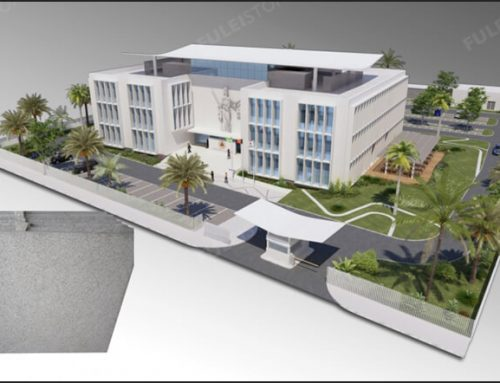 Pearl White Granite for Ministry Judicial Project in East Timor