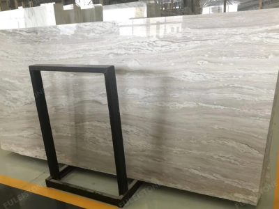 Rosa Pink Marble Slab with White Veins