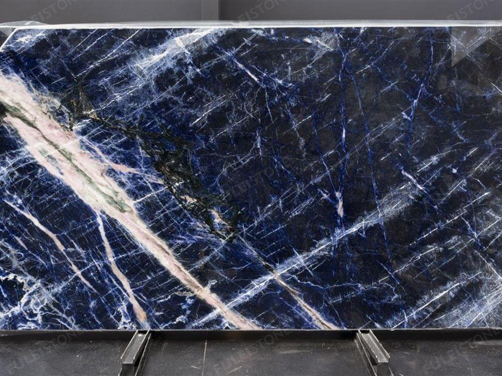 Polished Blue Sodalite Granite Slab