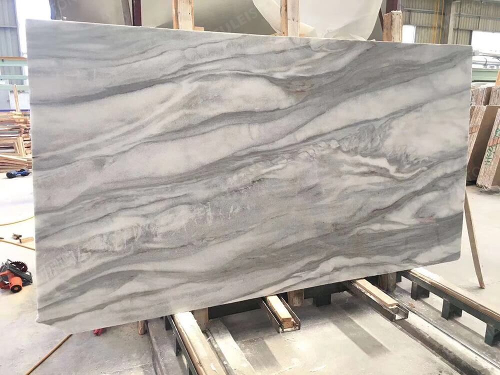 Polished Cloudy Misty Marble Slabs