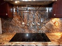 Rain Forest Brown Marble Slab Countertop