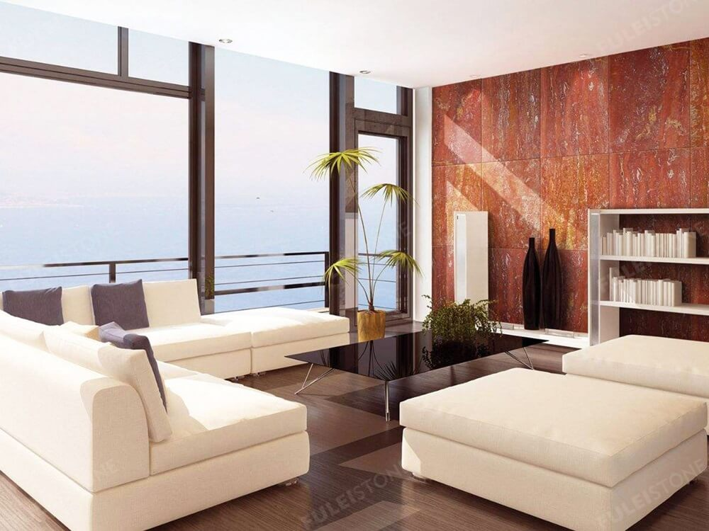 Red Travertine Marble for Background
