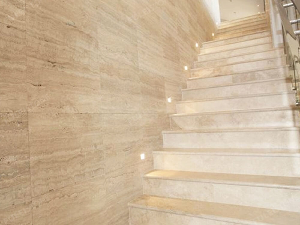 Roman Travertine Marble for Staircase