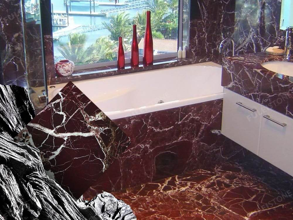 Rosso Levanto Marble Bathroom Decoration