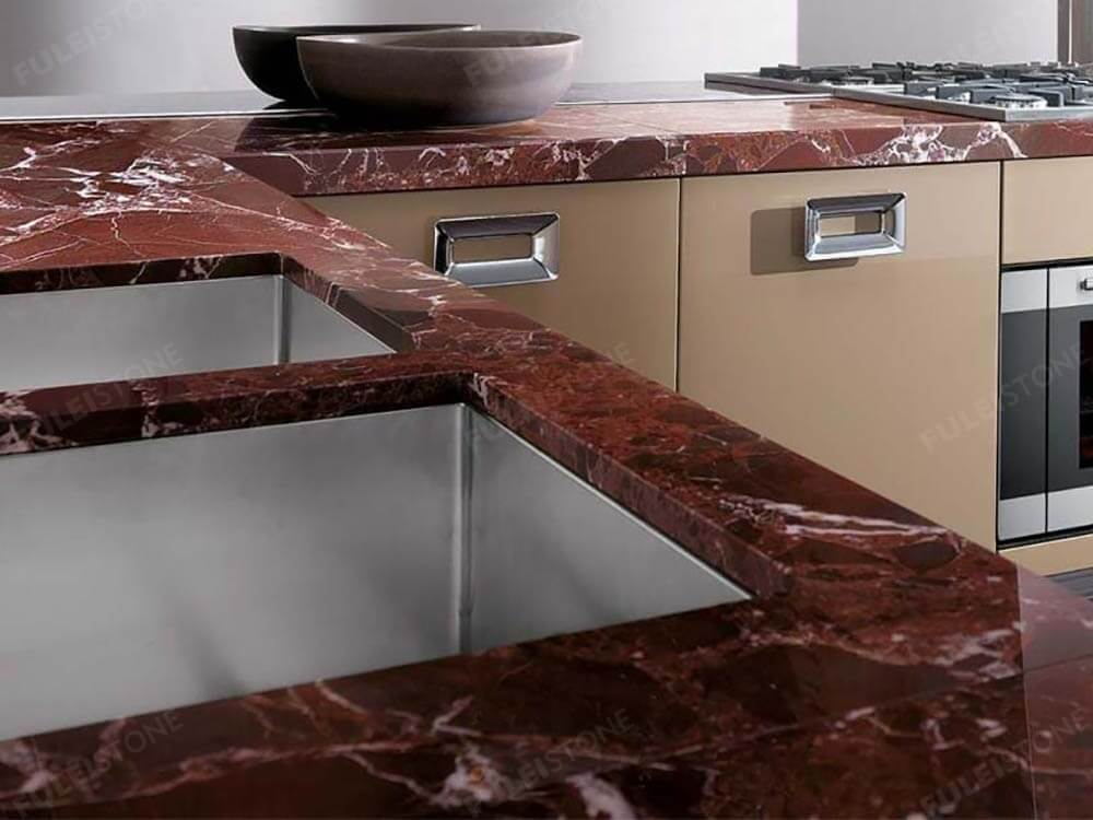 Rosso Levanto Marble Countertop