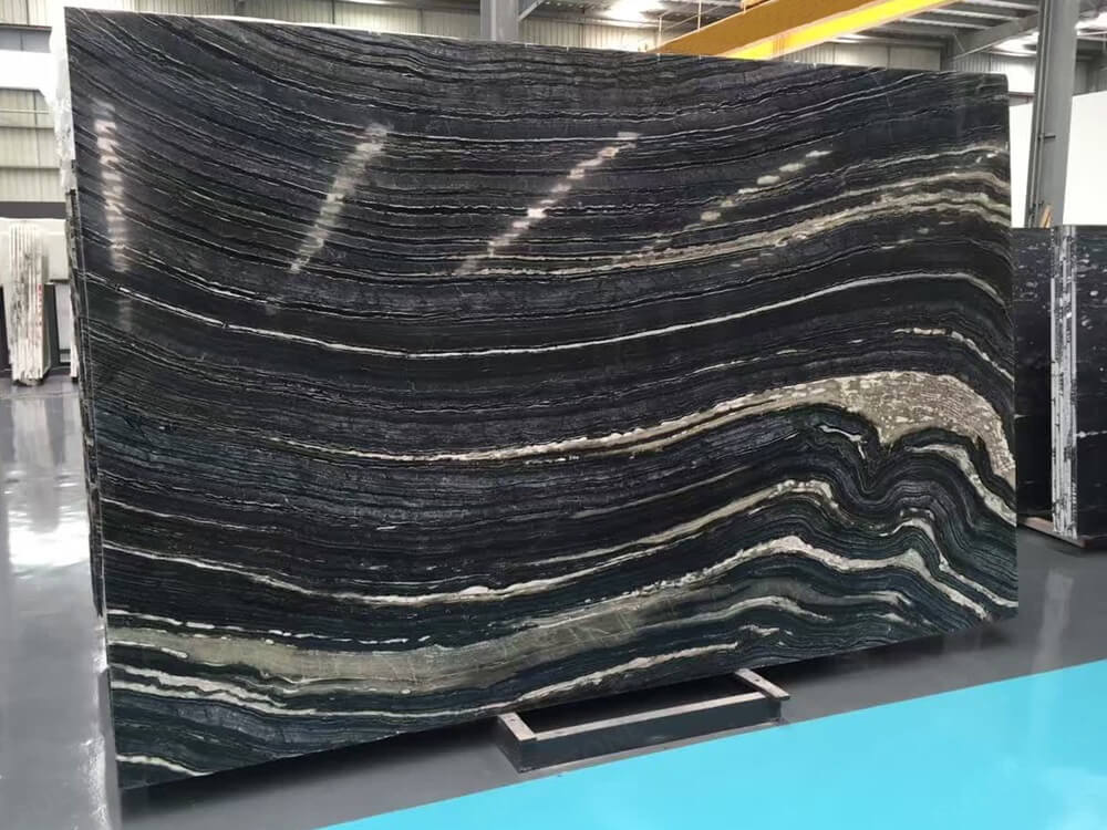 Silver Brown Wave Marble Slab