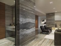 Dark Silver Travertine Slab for Floor and Wall