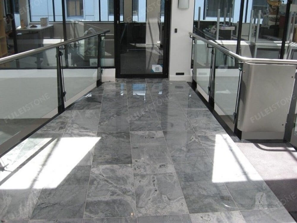atlantic grey granite floor tile