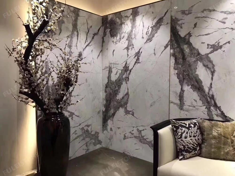 invisible grey marble wall tiles