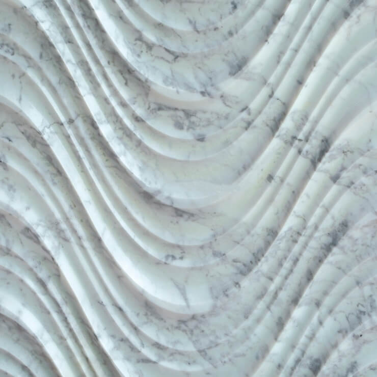 3D Carven White Marble Tile Style (2)