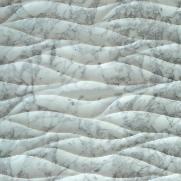 3D Carven White Marble Tile Style (3)