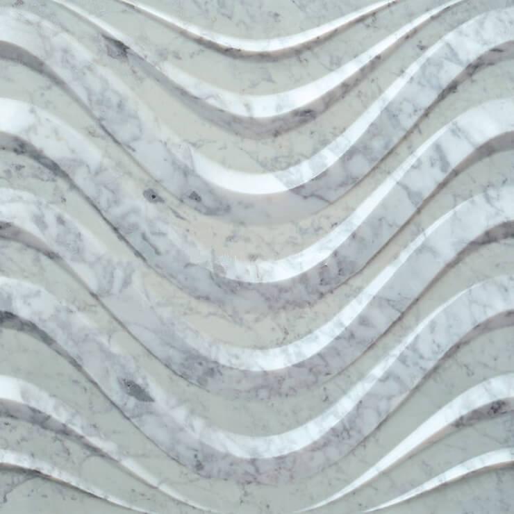 3D Carven White Marble Tile Ttyle (4)