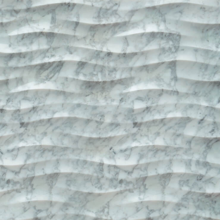 3D Carven White Marble Tile Style (5)