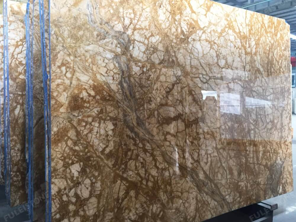 Amber Gold Marble Polished