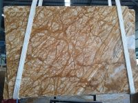 Amber Gold Marble Slab