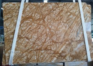 Amber Gold Marble Slab