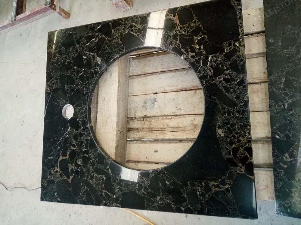 Athens Portoro Marble Vanity Tops