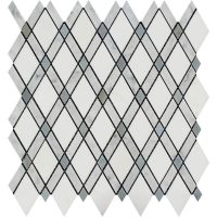 Bianco Carrara Polished Marble Hexagon Lattice Tile