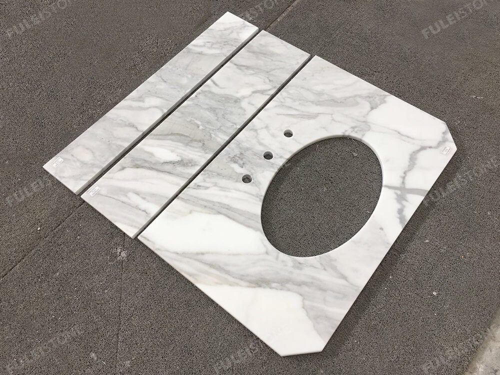 Calacatta Marble Bathroom Vanity Tops