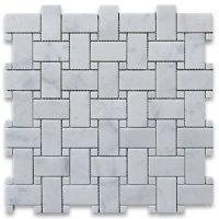 Carrara White Marble 1x2 Rectangle Mosaic Tile