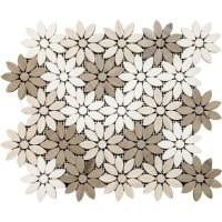 China Athens Wooden Marble Flower Waterjet