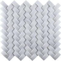 China Crystal White Marble Cambered Mosaic Tiles