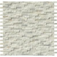 China Crystal White Marble Splitface Mosaic Tiles