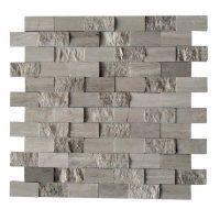 China Nature Driftwood Grey Marble Mosaic tile