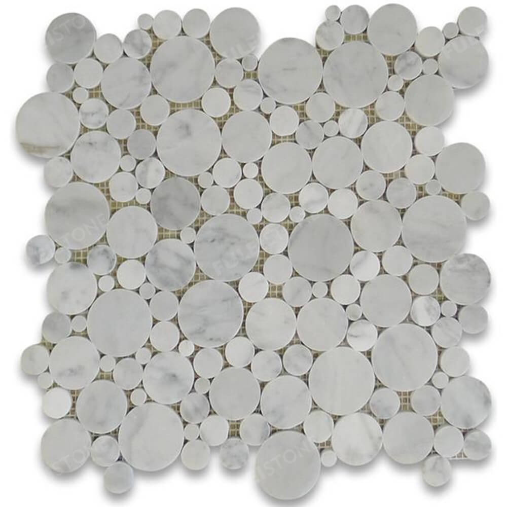 Circles Penny Round Marble Mosaic Tiles