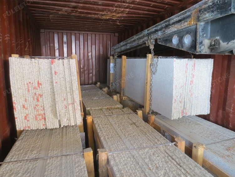 Container Loading of Stone Half Slabs