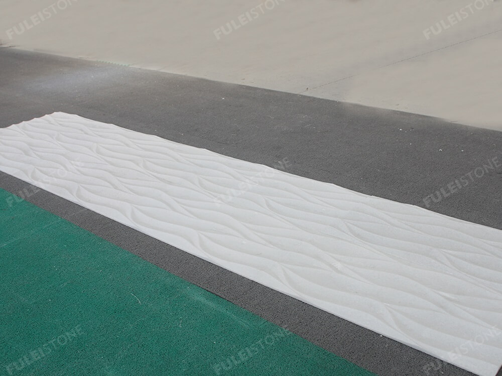 Crystal White 3D Carving Tiles